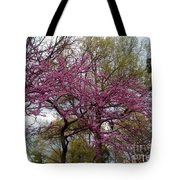 Purple Spring Trees Tote Bag