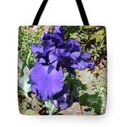 Purple Springtime Iris  Tote Bag