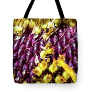 Purple Sunflower Seeds Tote Bag