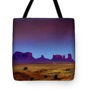 Purple Sunset In Monument Valley Tote Bag