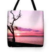 Purple Coastal Sunset Tote Bag