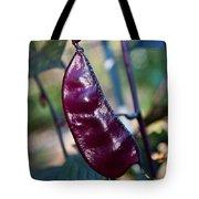 Purple Sweet Pea Pod Tote Bag