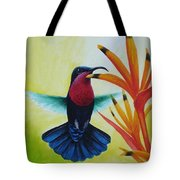 Purple-throated Carib And Bird Of Paradise Tote Bag