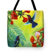 Purple-throated Caribs And Flamboyant Tote Bag