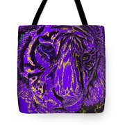 Purple Tiger Tote Bag