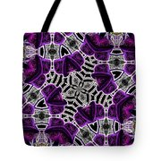 Purple Top Hats Kaleidoscope Tote Bag
