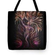 Purple Tree Goddess Tote Bag