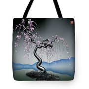 Purple Tree In Water 2 Tote Bag by GuoJun Pan