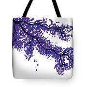 Purple Tree Tote Bag