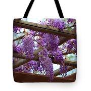 Purple Trellis Tote Bag