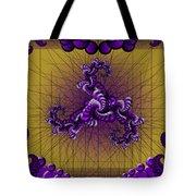 Purple Tripolar Tote Bag