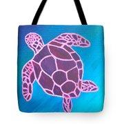 Purple Turtle Tote Bag