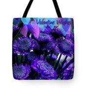 Purple  Valentine Tote Bag