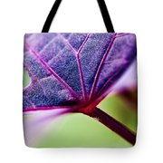 Purple Veins Tote Bag