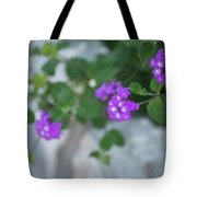Purple Verbena Tote Bag