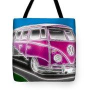 Purple Vw Bus Tote Bag