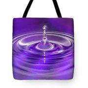 Purple Water Drop Tote Bag