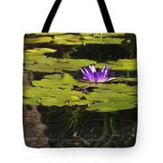 Purple Water Lilly Distortion Tote Bag