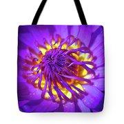 Purple Water Lily Macro Tote Bag