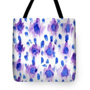 Purple Watercolor Ikat Tote Bag