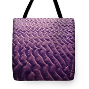 Purple Waves Of Sand Tote Bag