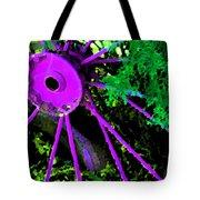 Purple Wheel Tote Bag