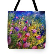 Purple Wild Flowers  Tote Bag