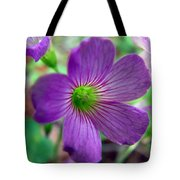Purple Wildflowers Macro 1 Tote Bag
