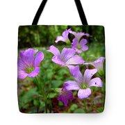 Purple Wildflowers Macro 2 Tote Bag