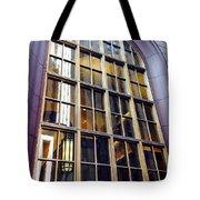 Chicago Golden Purple Window Panes Tote Bag