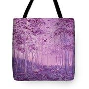Purple Woods Tote Bag