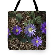 Purple Yard Flowers Tote Bag