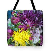 Purple Yellow Flower Mix Tote Bag
