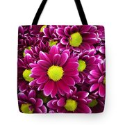 Purple Yellow Flowers Tote Bag