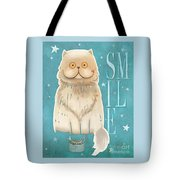 Purr, Smile Cat Tote Bag