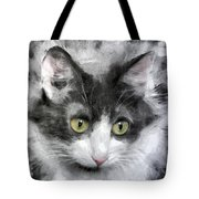 A Cat With Green Eyes Tote Bag