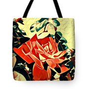 Push-button Flower Tote Bag