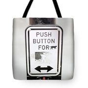 Push Button For Cat Tote Bag