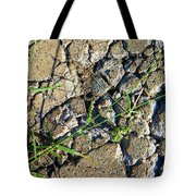 Pushing Through Concrete Tote Bag
