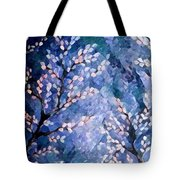 Pussy Willow Abstract Tote Bag
