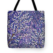 Pussy Willow Mosaic Tote Bag