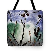 Pussy Willowand Persian Iron Wood Tote Bag