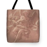 Putto And Angel Holding A Banderole, 1706  Tote Bag