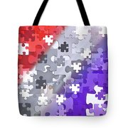 Puzzled - Conceptual Abstract Tote Bag