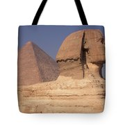 Pyramid And Sphinx Tote Bag