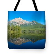 Pyramid Island In The Pyramid Lake Tote Bag