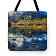 Pyramid Lake Resort Reflections Tote Bag