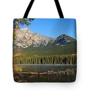Pyramid Mountain In The Morning Tote Bag