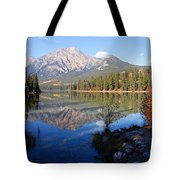 Pyramid Moutain Reflection Tote Bag