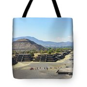 Pyramid Of The Sun And Avenue Of The Dead Tote Bag